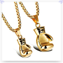 Fashion Couple Pendant Stainless Steel Jewelry Necklace (NK186)