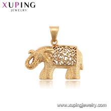 34202 xuping pendentif neutre en forme d'animal série or éléphant