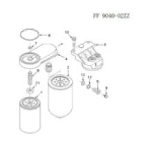 Filtro de combustible del motor diesel Cummins