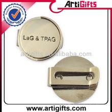Cheap custom metal golf cap clip ball marker