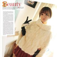 Корейское пальто из натурального кролика корейского стиля и куртка из натуральной шерсти из кролика