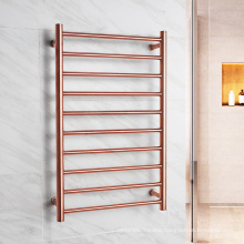 Luxury Rose gold Polished stainless steel Bath towel heater