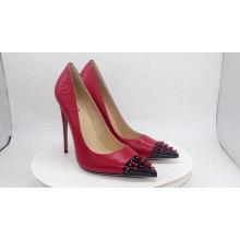 Custom fashion shoes for women 2020 ladies high heel rivet studded pumps shoes high heel rivet pumps shoes for women