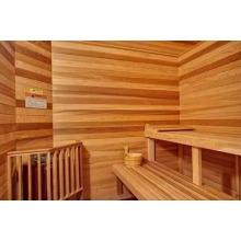 Painel decorativo de madeira de sauna de cedro