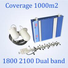27dBm Lte 1800 / 3G 2100MHz Repetidor de señal de doble banda GSM repetidor St-Dw27A