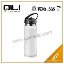 Hohe Qualität 18/8 Edelstahl 750ml doppelwandig Edelstahl Sportflasche mit Stroh
