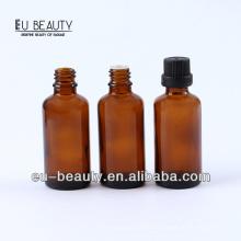 Pharmazeutische bernsteinfarbene ätherische Ölflasche 50ml