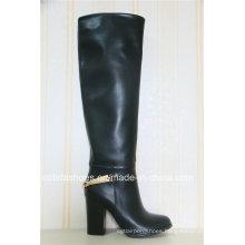 OEM Fashion Comfort High Heels Leather Women Boots