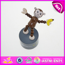 Hot New Product for 2015 Kids Wooden Finger Toy, High Quality Wooden Toy Finger Toy, Hot Sale Woode Push Finger Toy W06D043