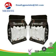 Custom Printed Flat Bottom Side Gusset Stand up Bag