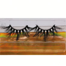 SL026H Hitomi Wholesale Siberian Mink Lash soft natural mink eyelashes Fluffy 25mm Magnetic Mink Eyelashes