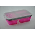 With Lids Silicone Collapsible Folding Food Lunch Box