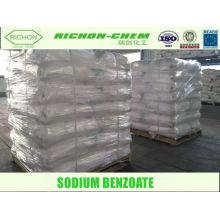 Produits chimiques alimentaires de bas prix de fournisseur d'usine fabriqués en Chine SEL DE SODIUM D'ACIDE BENZOIQUE