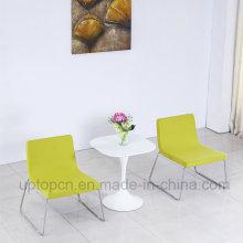 Элегантный Белый квадратный стол и нержавеющей стали мягкое кресло для спальни гостиницы (СП-CT844)
