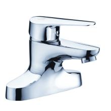 2-Loch Waschtischarmatur aus Messing verchromt für Bad