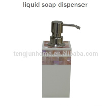 Pink MOP shell manual liquid soap dispenser for luxury hotel