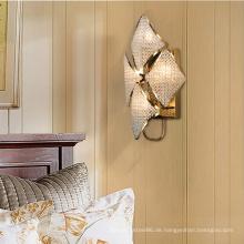Moderne dekorative Schlafzimmer-Kristall-LED-Wandleuchte für den Innenbereich