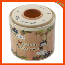 Cartoon Round Notch Top Tissue Boxes for Home (FF-5009-1)