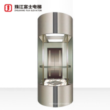 ZhuJiangFuJi Safety Comfortable Capsule Electric Elevator 360 Degree Panoramic Elevator Lift