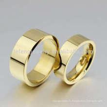 Anneaux de mariage chinois traditionnels, moules de bague en or sans pierre