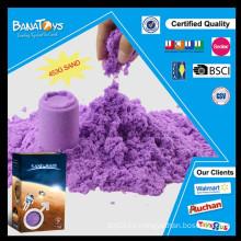 Juguete al por mayor de la arena del color suave púrpura diy