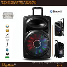 15′′ Multimedia DJ Outdoor Wireless Karaoke Trolley Bluetooth Active Speaker