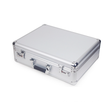 Caja de instrumentos de aleación de aluminio de plata multiusos exquisita