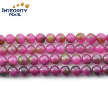6 8 10 12mm Synthétique Mixed Color Watermelon Tourmaline Stone