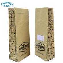 Embalagem personalizada do saco de café de kraft da impressão por atacado com o reforço do lado da válvula de sentido único e laço da lata