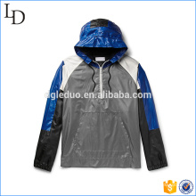 Drawstring hood chaqueta deportiva softshell material exterior corriendo chaqueta