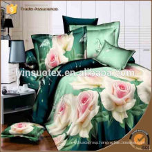 100%polyester pigment Printed Bed Sheet set duvet cover luxury bedding set