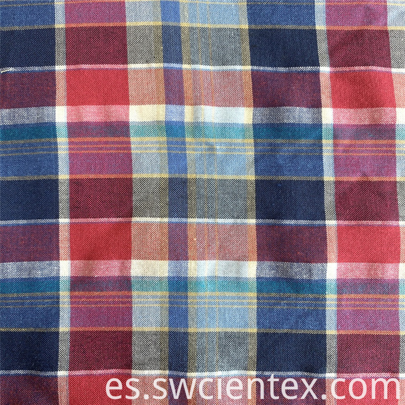 Yarn Dyed Plaid Brushed Fabric