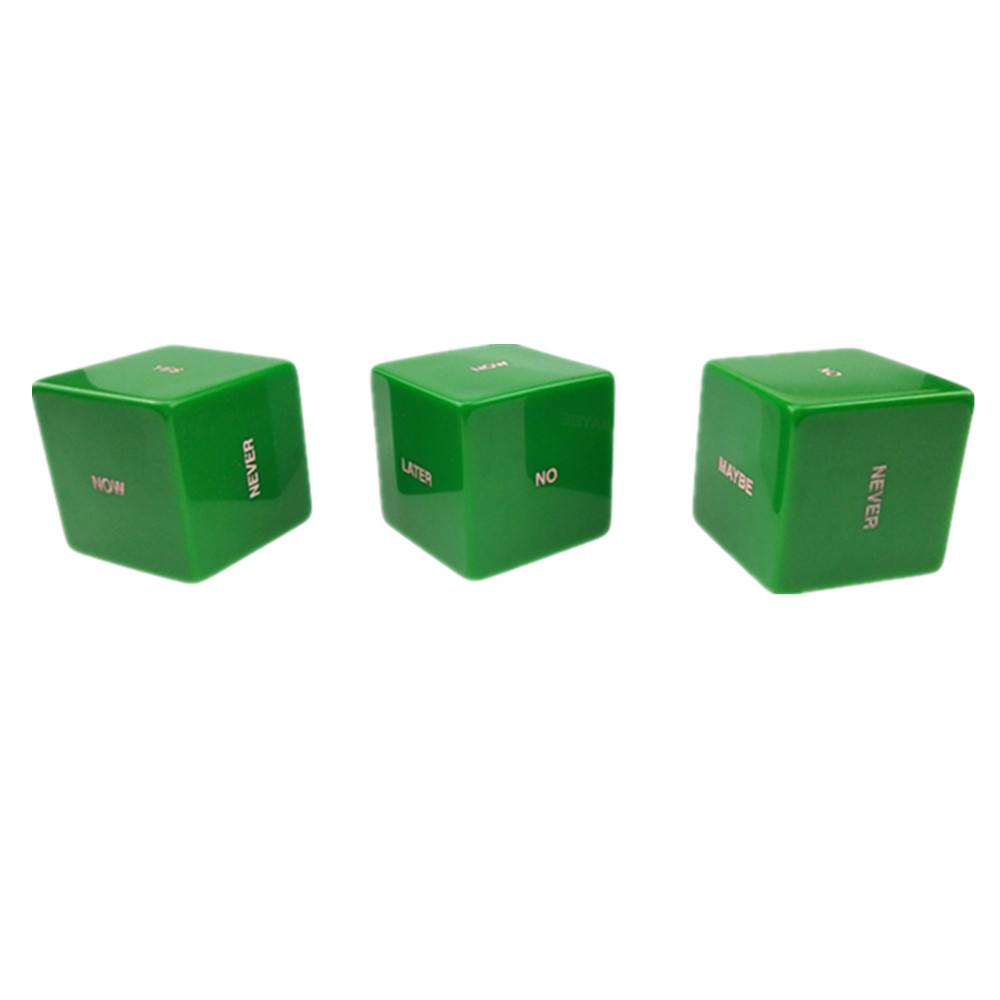 Acrylic Solid Color Dice Green