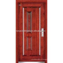 Наружные стальные двери деревянные (JKD-236) стали бронированную дверь для усиленной безопасности дизайн