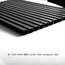 Reale 3K Twill Matte Kohlefaser Rohre für maßgeschneiderte Drohne, Unterstützung Bohrloch auf Kohlefaserrohr