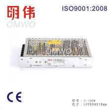 CA da tensão de entrada 100-240V da fonte de alimentação do interruptor S-100-5 à CC 5V 100W