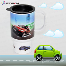 Sunmeta New Arrival Hot Selling Printing Sublimation Plastic Car Mug
