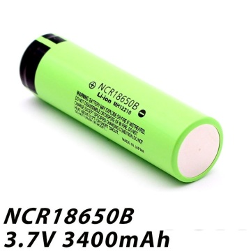 18650 3.7V 3400mAh 12.58Wh Cellule de batterie Li-Ion