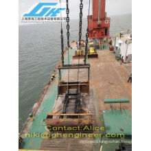 30T four wire rope clamshell scissor grab for coal nickel bulk cargo