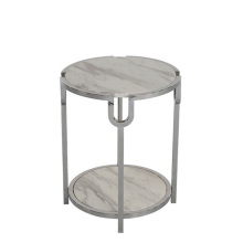Mode simple salon marbre top table d'appoint