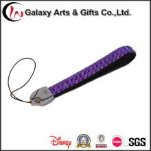 Telefone de cristal roxo cordão curto