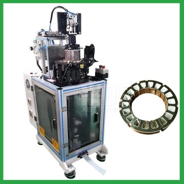 Auto brushless DC motor stator slot paper folder and inserter machine