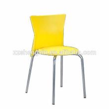 Cadeira de plástico KD cadeira de pernas metálicas empilháveis