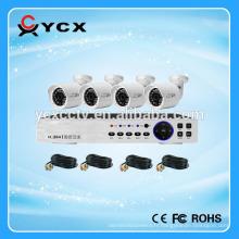 Kits de caméra économique 4CH 720P AHD populaires, système de caméra CCTV