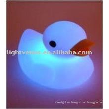 diseño lindo pato aminal luz de la noche