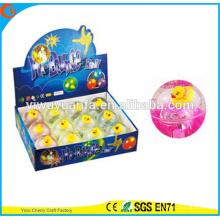 Hot Sell Kid's Gift Rubber Yellow Duck LED Flashing Lighting Bouncing Ball