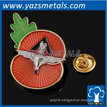 customized high quality lapel badges poppy badges