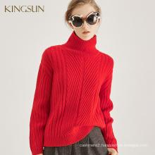 Heavy Gauge Sweaters For Women, 100% Merino wool Fabric, Heavy Turtleneck And Soft Sweater