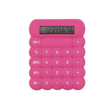 Mini calculatrice en caoutchouc flexible en silicone coloré