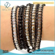 2016 New design fast delivery bohemian jewelry leather wrap wrap bracelet boho style bracelet